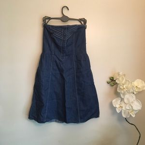 🌿Mossimo Strapless Chambray Dress